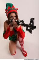 19 2019 01 VERONIKA ELF KNEELING POSE WITH SUBMACHINE GUN