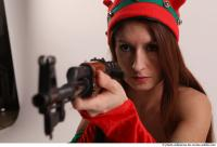 21 2019 01 VERONIKA ELF KNEELING POSE WITH SUBMACHINE GUN
