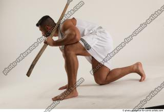 04 2019 01 ATILLA KNEELING POSE WITH SPEAR