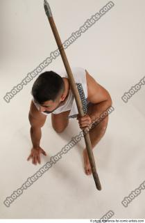 10 2019 01 ATILLA KNEELING POSE WITH SPEAR