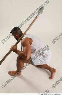 12 2019 01 ATILLA KNEELING POSE WITH SPEAR