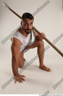 18 2019 01 ATILLA KNEELING POSE WITH SPEAR