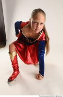 18 2019 01 VIKY SUPERGIRL KNEELING POSE